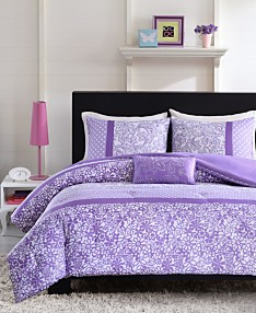Purple Bed in a Bag and Comforter Sets: Queen, King & More ...