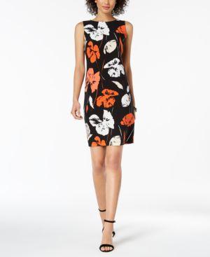 Kasper Printed Sheath Dress 5978443