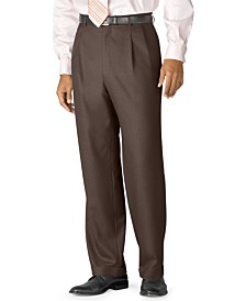 Lauren Ralph Lauren 100% Wool Double-Reverse Pleated Dress Pants
