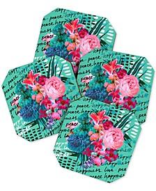 Biljana Kroll Love Letter Coaster Set