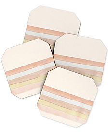 Deny Designs Wonder Forest Stripes Coaster Set