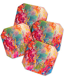 Deny Designs Stephanie Corfee Razzle Dazzle Coaster Set