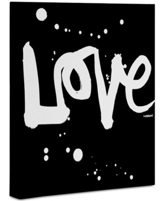 "Kal Barteski Love Black 8"" x 10"" Canvas Wall Art"