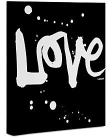 "Kal Barteski Love Black 24"" x 30"" Canvas Wall Art"