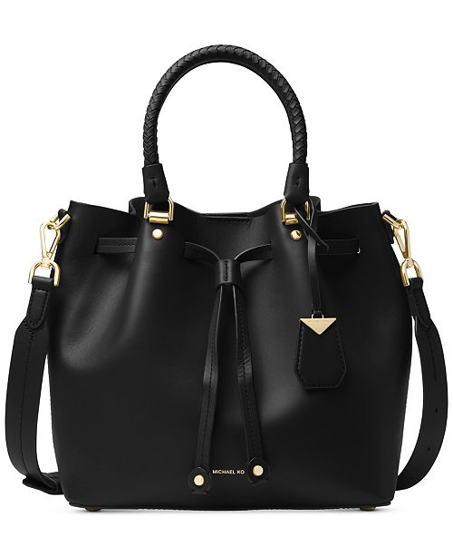 5615af3535ca Michael Kors Blakely Smooth Leather Bucket Bag & Reviews ...