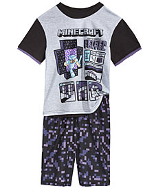 Minecraft 2-Pc. Nether Portal Pajama Set, Little Boys & Big Boys