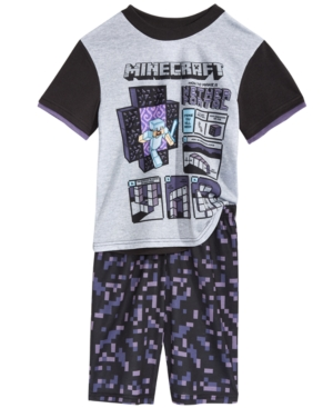 Minecraft 2Pc Nether Portal Pajama Set Little Boys  Big Boys
