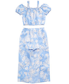 Crystal Doll 2-Pc. Printed Maxi-Overlay Shorts Dress, Big Girls