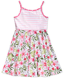 Sweet Heart Rose Reversible Knit Dress, Little Girls