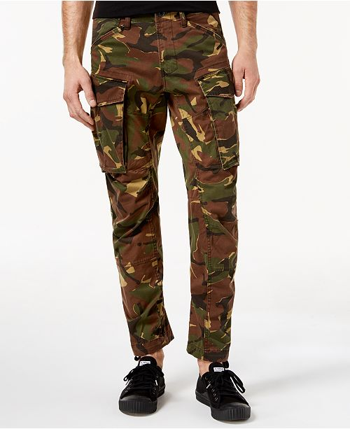 bd554b496d0 G-Star Raw Men s Tapered Fit Stretch Camo Cargo Pants   Reviews ...