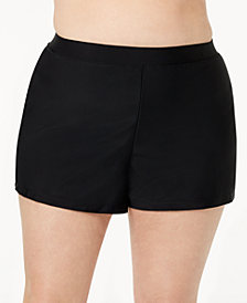 GO by Gossip Plus Size Swim Shorts, Created for Macy's