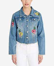 Buffalo David Bitton Cotton Embroidered Denim Jacket