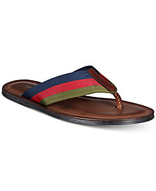 Kenneth Cole Men's Kirby Stripe Thong Sandals