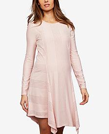 Bcbgmaxazria Maternity Handkerchief-Hem Dress