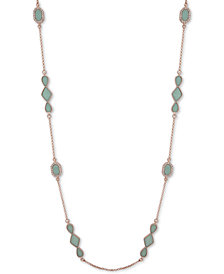 "Ivanka Trump Rose Gold-Tone Stone 42"" Statement Necklace"