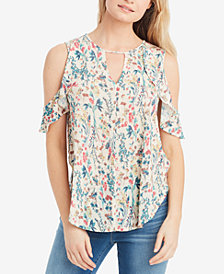 Jessica Simpson Pearlina Cold-Shoulder Top