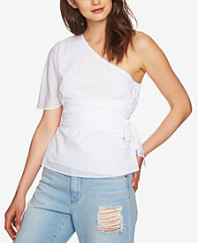 1.STATE One-Shoulder Wrap Top