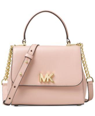 michael kors mott small polished leather top handle satchel rh macys com
