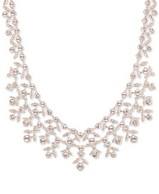 "Givenchy Crystal Collar Necklace, 16"" + 3"" extender"