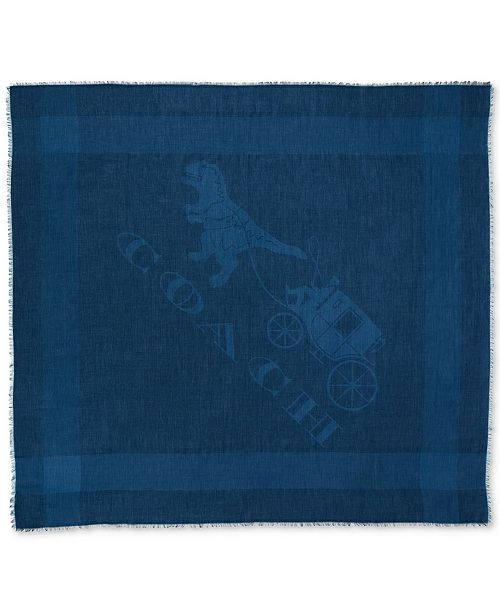 Denim Rexy and Carriage Oversized Square