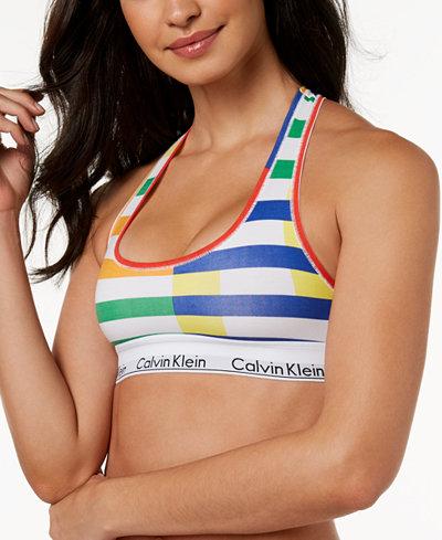 Calvin Klein Striped Logo Bralette QF4612