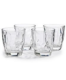 Diamond 4-Pc. Double Old Fashioned Glass Set