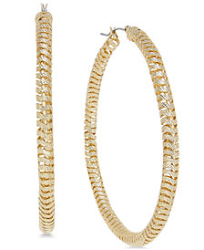 Thalia Sodi Gold-Tone Spiral Hoop Earrings, Created for Macy's