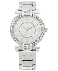 Charter Club Women's Silver-Tone Bracelet Watch 36mm, Created for Macy's