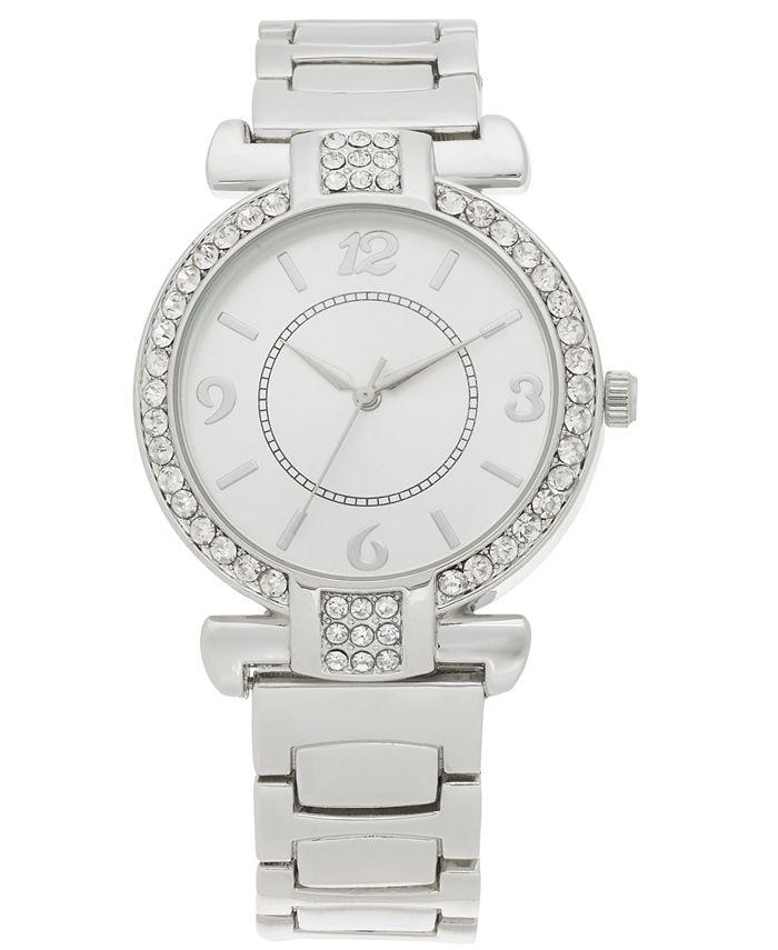 Charter Club - Women's Silver-Tone Bracelet Watch 36mm