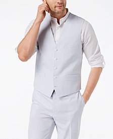I.N.C. Men's Slim-Fit Seersucker Vest, Created for Macy's