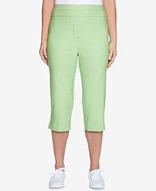 Alfred Dunner Turks & Caicos Allure Pull-On Capri Pants