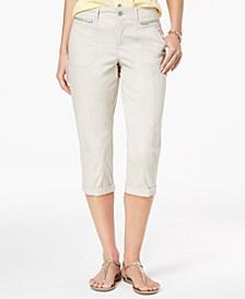 Zipper-Pocket Capri Pants, Created for Macy's
