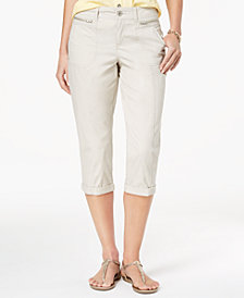 Style & Co Petite Cuffed Capri Pants, Created for Macy's