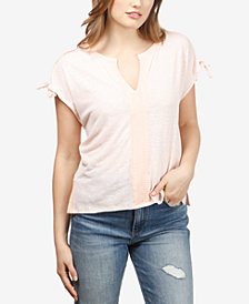 Lucky Brand Mixed-Media T-Shirt
