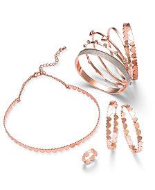 Thalia Sodi Rose Gold-Tone Micro Hearts Jewelry Separates, Created for Macy's