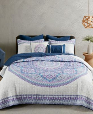 Coletta Cotton 7-Pc. Full/Queen Coverlet Set