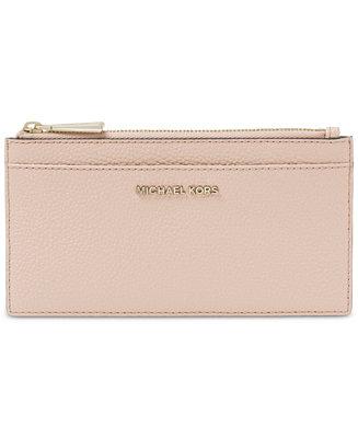 1794773a19743f Michael Kors Pebble Leather Slim Card Case & Reviews - Handbags &  Accessories - Macy's
