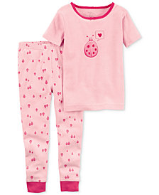 Carter's Little Planet Organics 2-Pc. Ladybug Cotton Pajama Set, Baby Girls