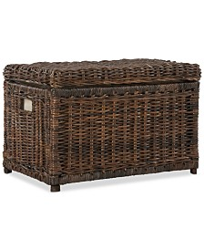 JONATHAN Y Happimess Elijah 30'' Wicker Storage Trunk, Quick Ship