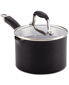 Anolon Advanced Onyx Hard-Anodized Non-Stick Straining 2-Qt. Saucepan & Lid
