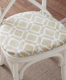 Madison Park Delray Textured Diamond-Print Chair Pad Pair