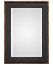 Staveley Rustic Black-Framed Mirror
