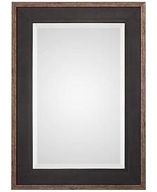 Uttermost Staveley Rustic Black-Framed Mirror
