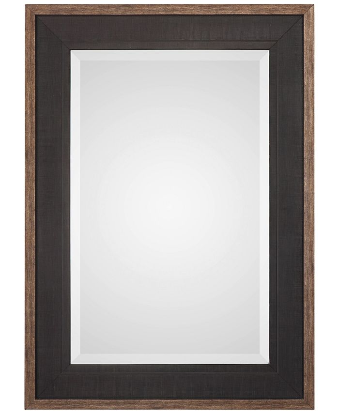 Uttermost - Staveley Rustic Black-Framed Mirror