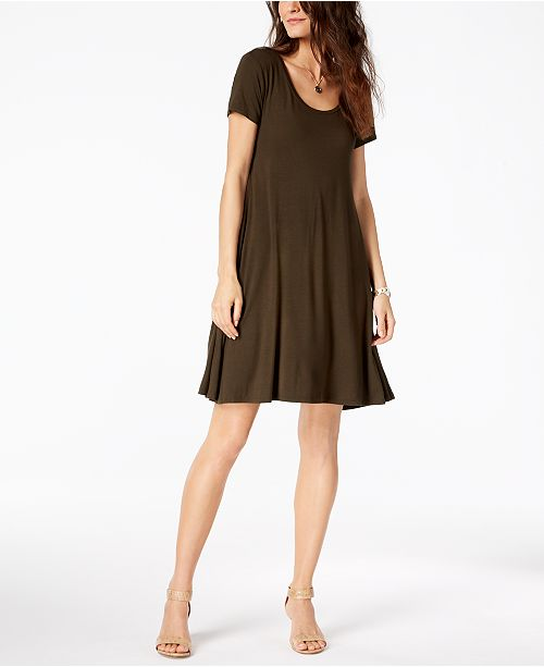 b087091f63c ... Style   Co Short-Sleeve A-Line Dress