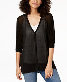 Eileen Fisher Silk Sheer Cardigan