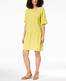 Eileen Fisher Tencel® Crepe Drop-Waist Dress