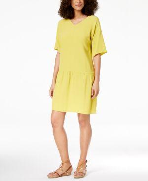 Eileen Fisher Tencel Crepe Drop-Waist Dress 6126018