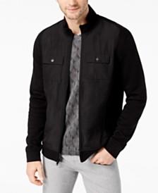Alfani Reyes Mixed-Media Jacket, Created for Macy's