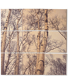 Deny Designs Olivia St. Claire Winter Birch Tree 9-Pc. Printed Wood Wall Mural
